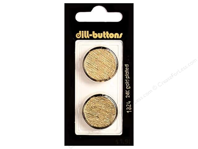 Dill Shank Buttons 7/8 in. Gold Metal #1824 2pc.