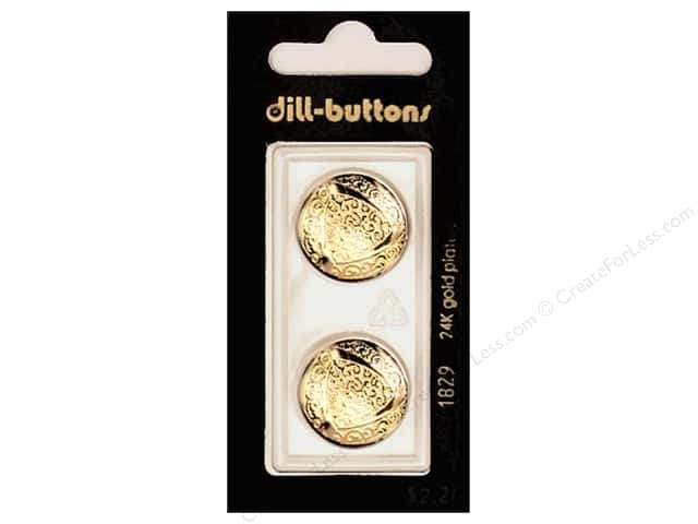 Dill Shank Buttons 13/16 in. Gold Metal #1829 2 pc.