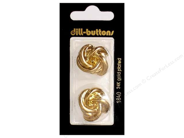 Dill Shank Buttons 1 in. Gold Metal #1840 2pc.