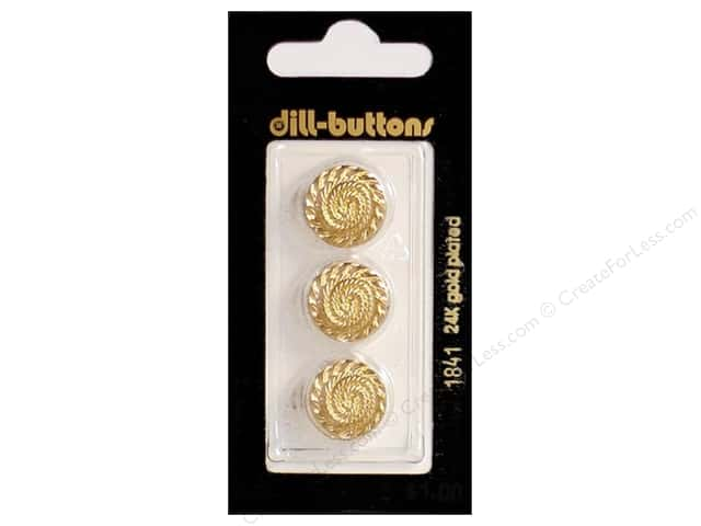 Dill Shank Buttons 5/8 in. Gold #1841 3pc.