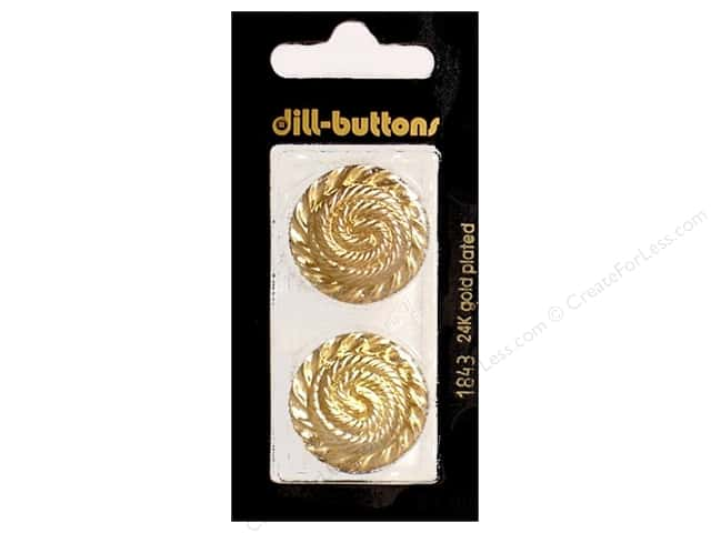 Dill Shank Buttons 1in. Gold #1843 2pc.