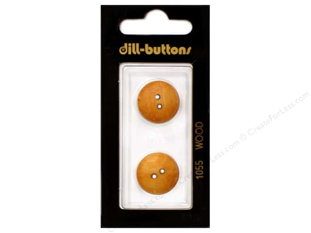 Dill 2 Hole Buttons 11/16 in. Wood Brown #1055 2pc.