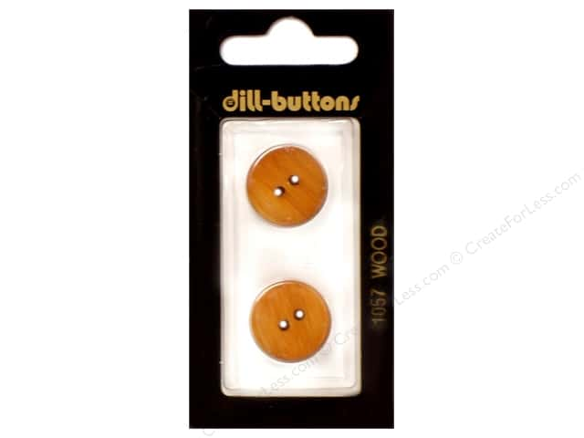 Dill 2 Hole Buttons 11/16 in. Wood Brown #1057 2pc.