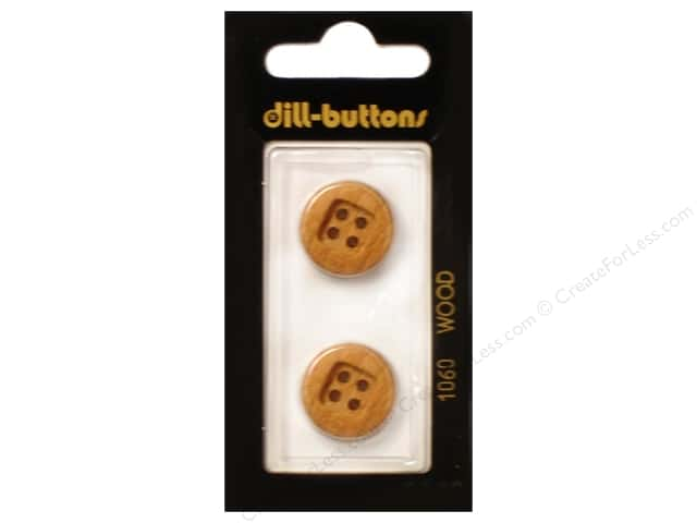 Dill 4 Hole Buttons 11/16 in. Wood Brown #1060 2pc.