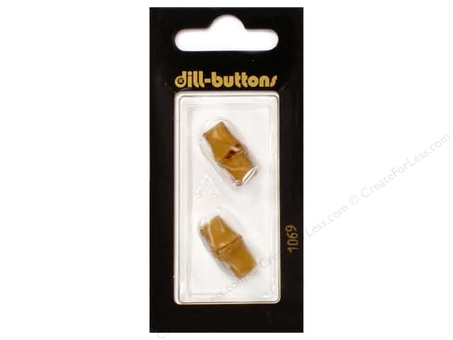 Dill Shank Buttons 13/16 in. Wood Brown #1069 2pc.