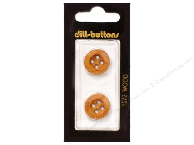 Dill 4 Hole Buttons 11/16 in. Wood Brown #1072 2pc.