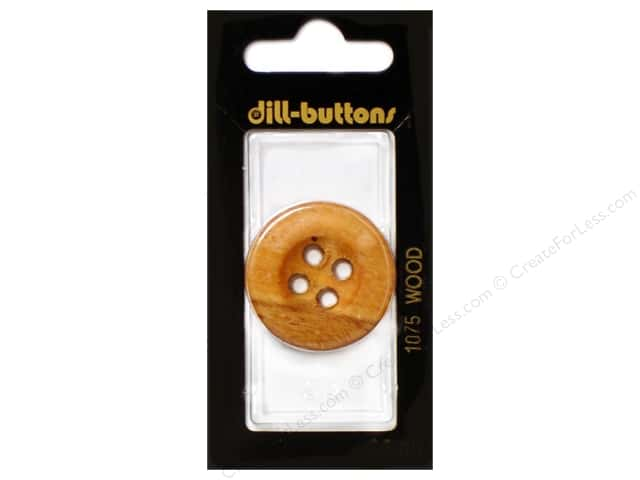 Dill 4 Hole Buttons 1 1/4 in. Wood Brown #1075 1 pc.