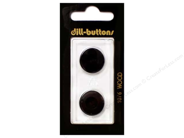 Dill 2 Hole Buttons 11/16 in. Wood Brown #1076 2pc.