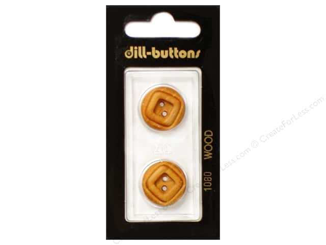 Dill 2 Hole Buttons 11/16 in. Wood Brown #1080 2pc.