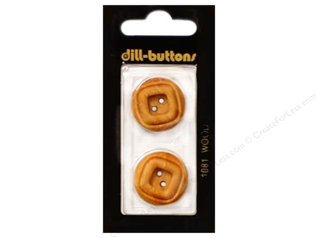 Dill 2 Hole Buttons 7/8 in. Wood Brown #1081 2pc.