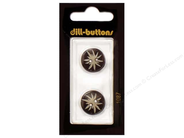 Dill 2 Hole Buttons 11/16 in. Brown #1087 2pc.