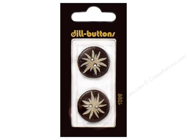 Dill 2 Hole Buttons 7/8 in. Brown #1088 2pc.