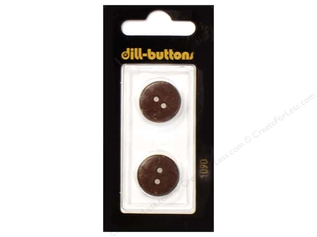 Dill 2 Hole Buttons 11/16 in. Brown #1090 2pc.