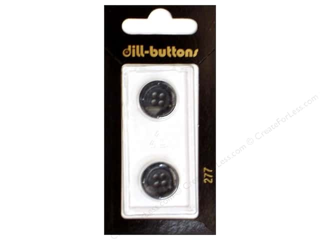 Dill 4 Hole Buttons 5/8 in. Grey #277 2 pc.