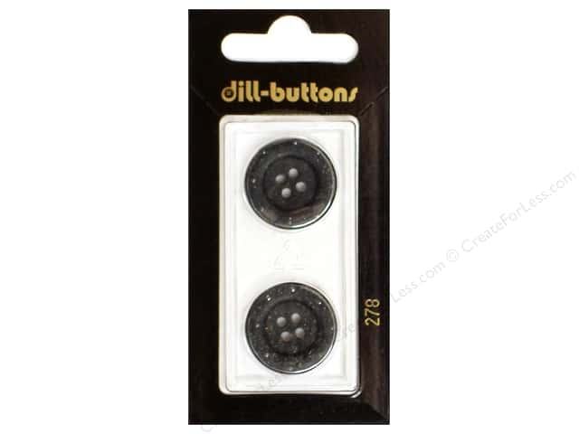 Dill 4 Hole Buttons 13/16 in. Grey #278 2pc.