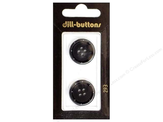 Dill 4 Hole Buttons 13/16 in. Grey #293 2pc.