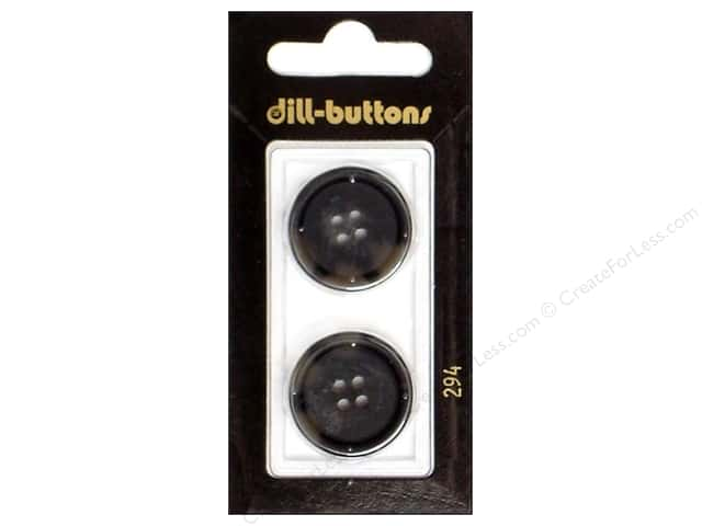 Dill 4 Hole Buttons 7/8 in. Grey #294 2pc.