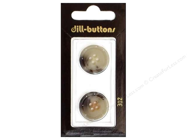 Dill 4 Hole Buttons 13/16 in. Grey #302 2 pc.