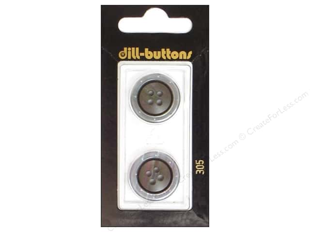 Dill 4 Hole Buttons 13/16 in. Grey #305 2 pc.