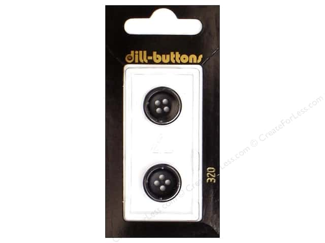 Dill 4 Hole Buttons 5/8 in. Black #320 2pc.