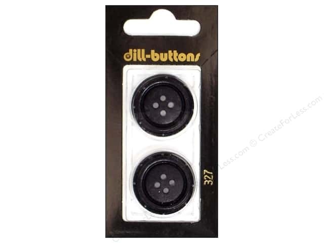 Dill 4 Hole Buttons 1 in. Black #327 2pc.