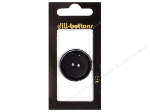 Dill 2 Hole Buttons 1 1/8 in. Black #335 1pc.