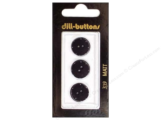 Dill 2 Hole Buttons 5/8 in. Black #339 3pc.