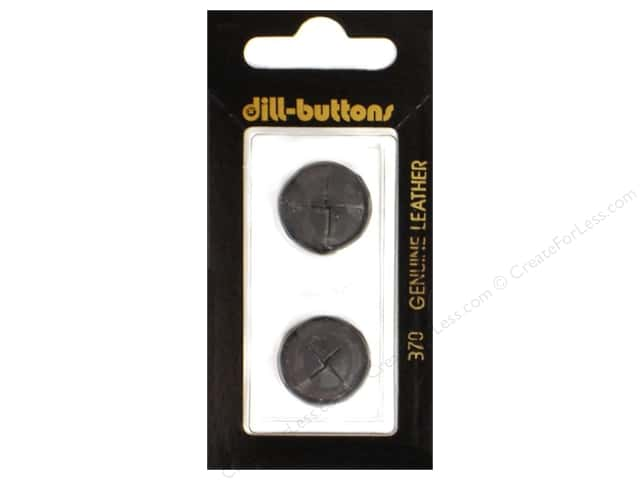 Dill Shank Buttons 11/16 in. Black Leather #370 2pc.