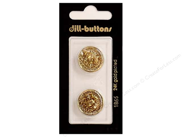 Dill Shank Buttons 11/16 in. Antique Gold #1866 2pc.