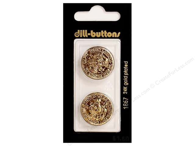 Dill Shank Buttons 7/8 in. Antique Gold #1867 2pc.