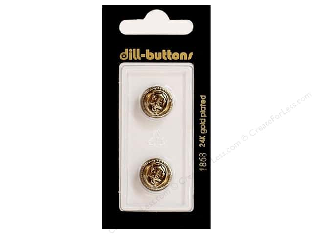 Dill Shank Buttons 9/16 in. Antique Gold #1868 2 pc.
