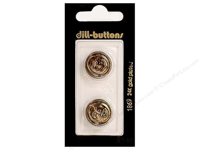 Dill Shank Buttons 11/16 in. Antique Gold #1869 2pc.