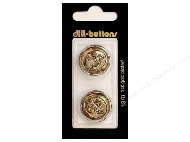 Dill Shank Buttons 7/8 in. Antique Gold #1870 2pc.