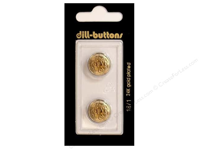 Dill Shank Buttons 5/8 in. Antique Gold Metal #1871 2pc.