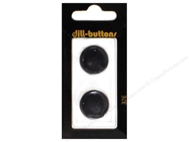 Dill Shank Buttons 13/16 in. Black #376 2pc.