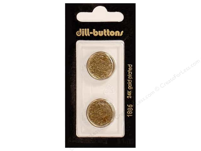 Dill Shank Buttons 11/16 in. Antique Gold Metal #1886 2pc.