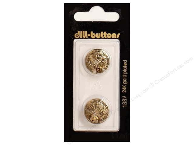 Dill Shank Buttons 11/16 in. Antique Gold #1889 2pc.