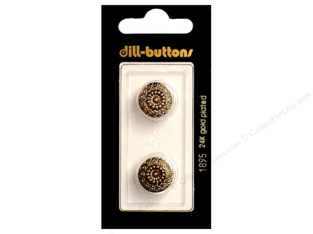 Dill Shank Buttons 9/16 in. Antique Gold #1895 2pc.