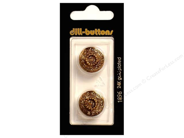 Dill Shank Buttons 11/16 in. Antique Gold #1896 2pc.