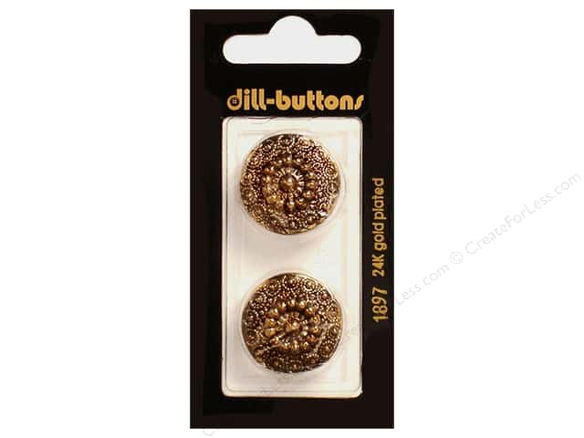 Dill Shank Buttons 7/8 in. Antique Gold #1897 2pc.