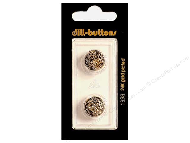 Dill Shank Buttons 9/16 in. Antique Gold #1898 2pc.