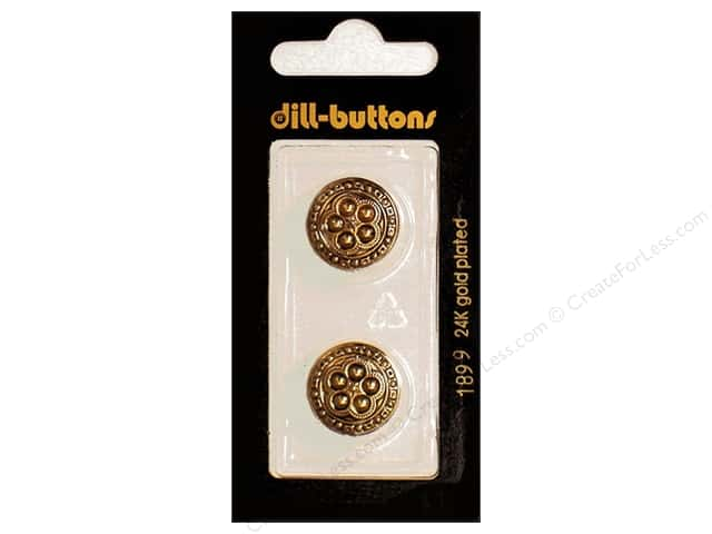 Dill Shank Buttons 11/16 in. Antique Gold #1899 2pc.