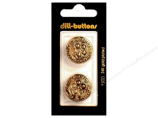 Dill Shank Buttons 7/8 in. Antique Gold #1900 2pc.