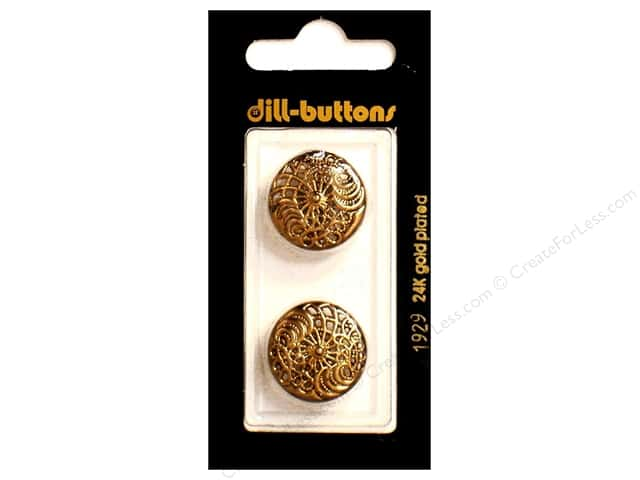 Dill Shank Buttons 13/ 16 in. Antique Gold Metal #1929 2pc.