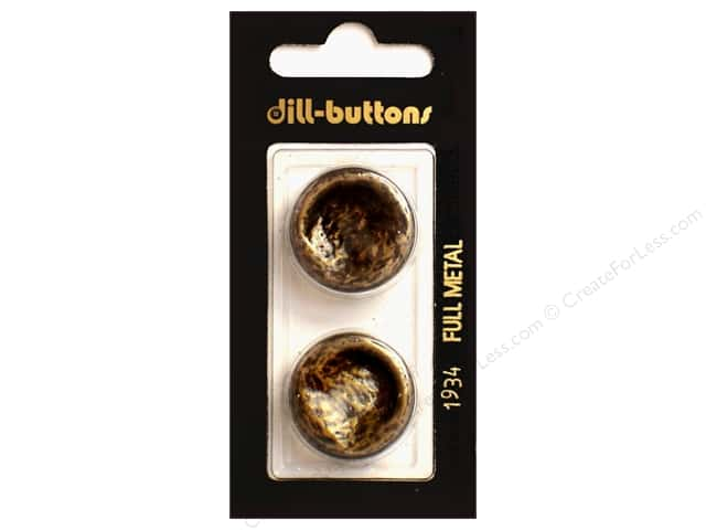 Dill Shank Buttons 7/8 in. Antique Brass Metal #1934 2pc.