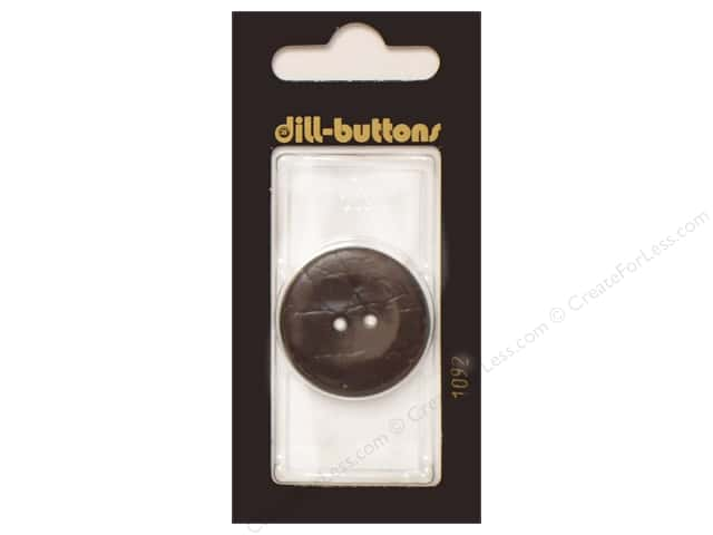 Dill 2 Hole Buttons 1 1/8 in. Brown #1092 1pc.