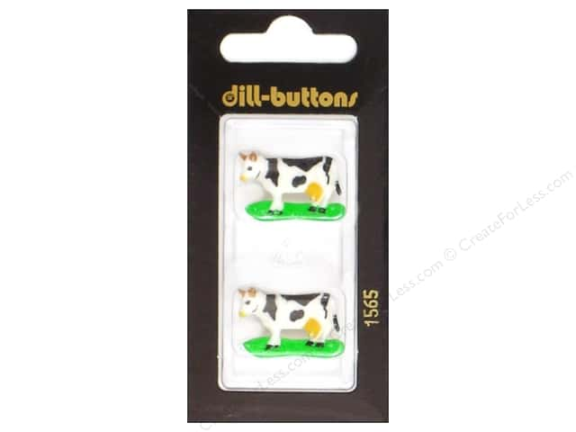 Dill Shank Buttons 1 1/16 in. Dairy Cow White/Black #1565 2 pc.
