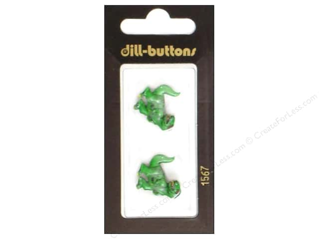 Dill Shank Buttons 13/16 in. T-Rex Green #1567 2pc.