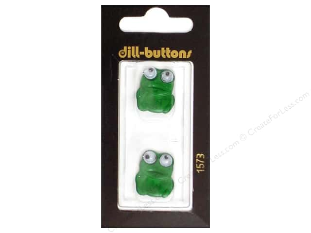 Dill Shank Buttons 13/16 in. Green Frog #1573 2pc.
