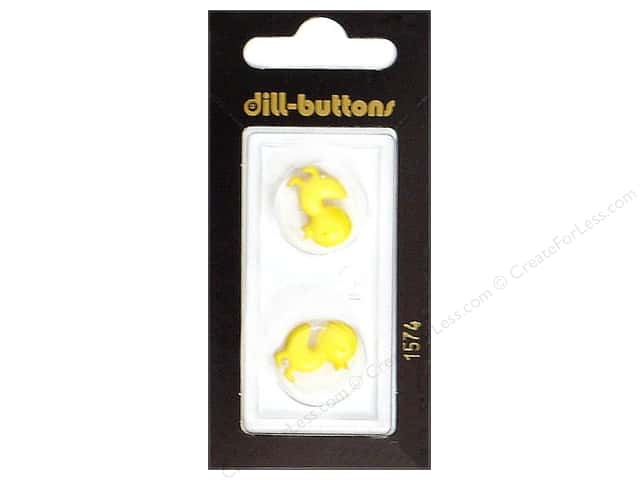 Dill Shank Buttons 11/16 in. Yellow Duckling #1574 2pc.